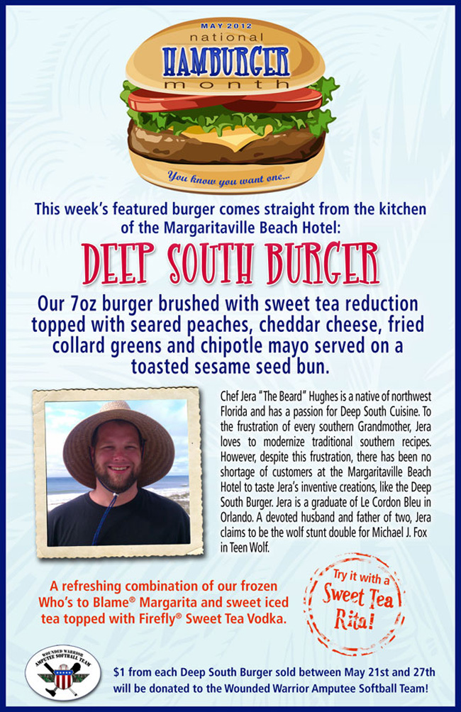 Try this week's National Hamburger Month Finalist - The Deep South Burger!
