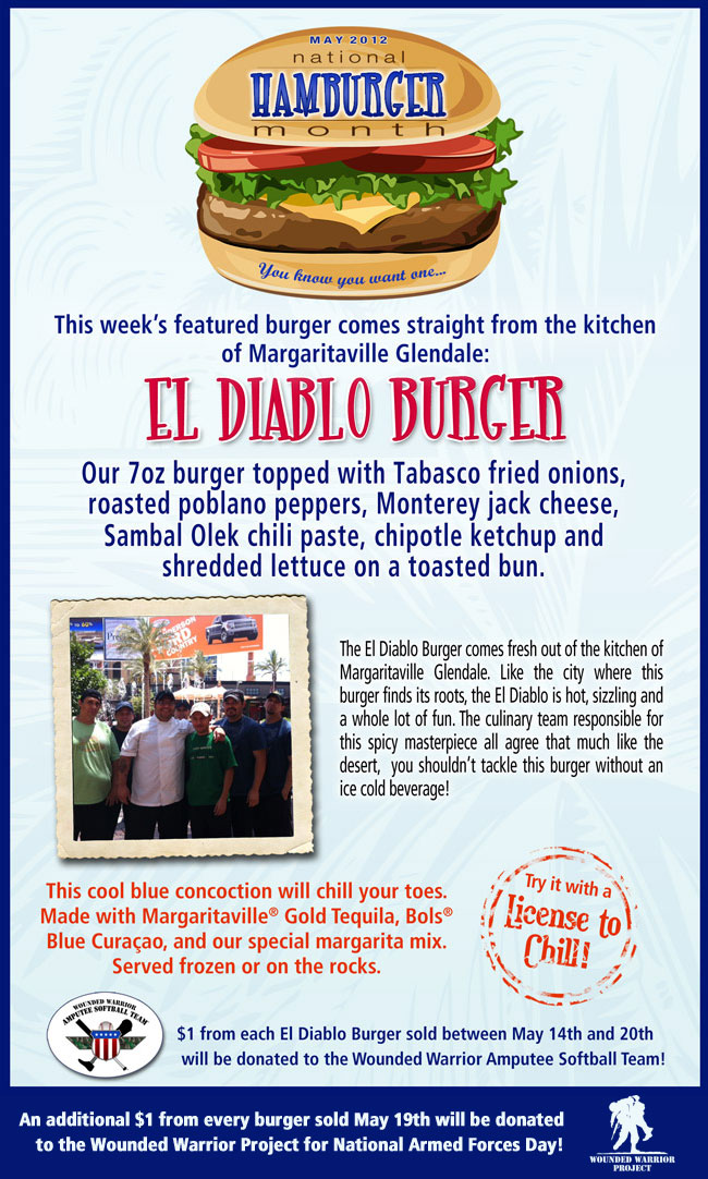 Try this week's National Hamburger Month Finalist - The Diablo Burger!