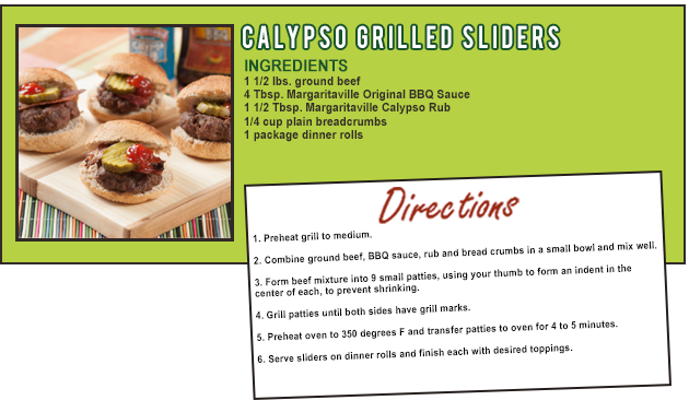 CALYPSO GRILLED SLIDERS