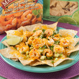 Chili Citrus Shrimp Nachos