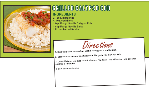 GRILLED CALYPSO COD
