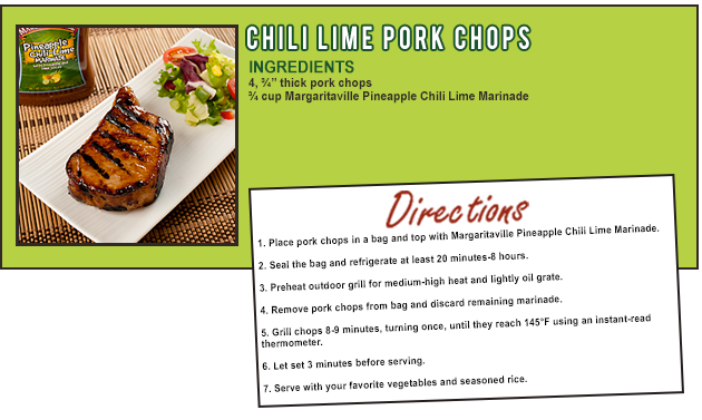 CHILI LIME PORK CHOPS