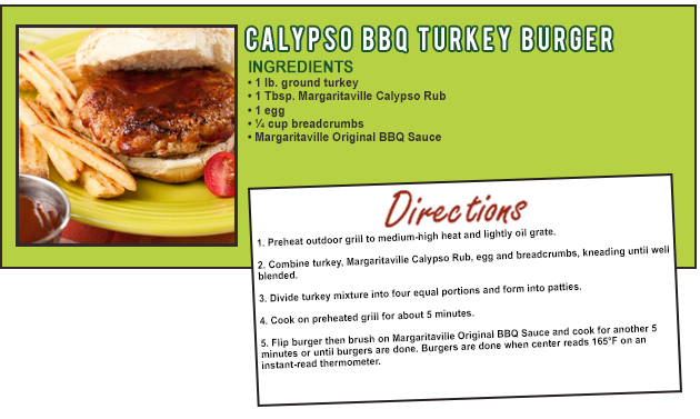 Calypso Turkey Burger