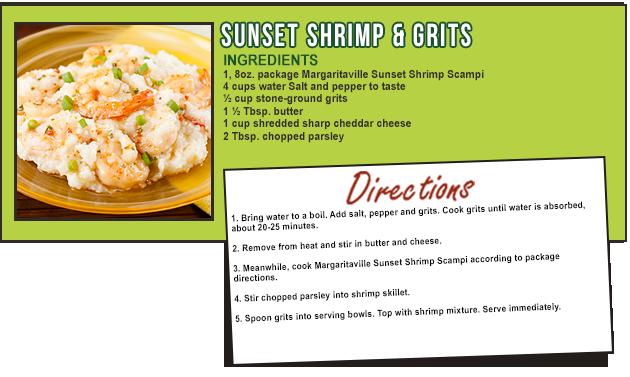 SUNSET SHRIMP & GRITS