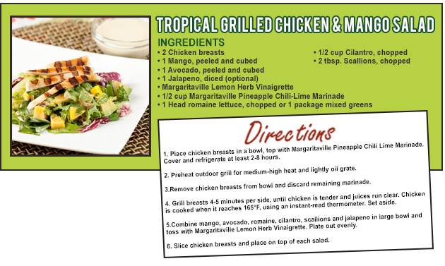 GRILLED CHICKEN & MANGO SALAD